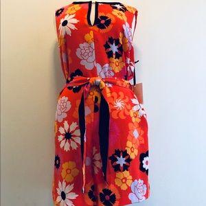 Victoria Beckham Target Orange Floral Romper
